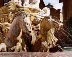 FOUNTAIN WITH HORSES 2