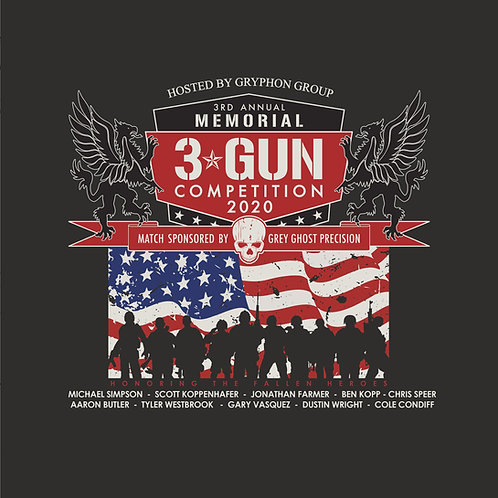 2020 3rd Annual Memorial 3 Gun Event T-shirt