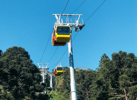 Bondinhos aéreos Parque da Serra em Canela-RS
