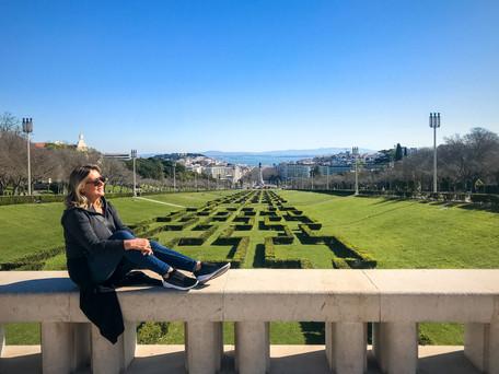 Parque Eduardo VII e a Estufa Fria em Lisboa