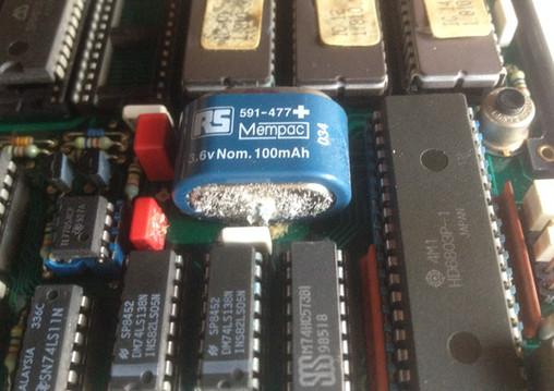 Leaking MPU Back-up Battery