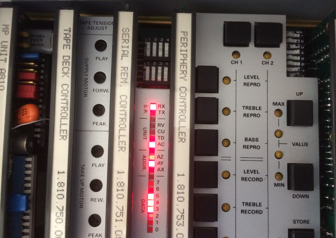 Studer A810 Transport Control Cards