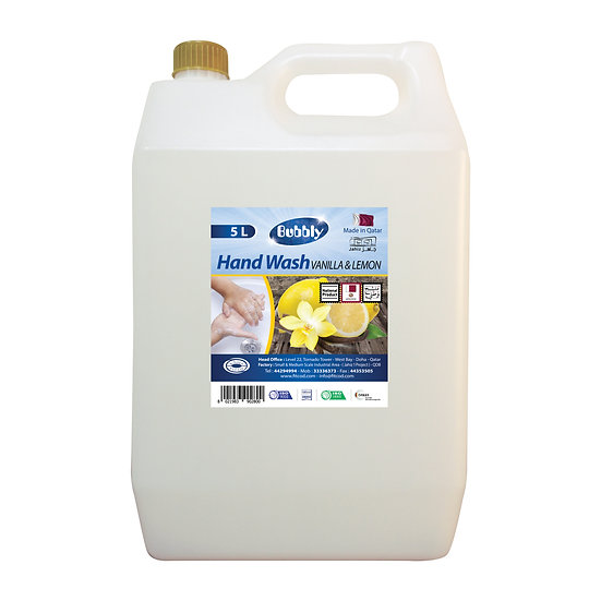 Bubbly Hand Wash Vanilla & Lemon 5L