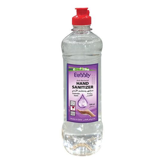 Bubbly Hand Sanitizer LIQUID lavender 70% ALCOHOL 500ml