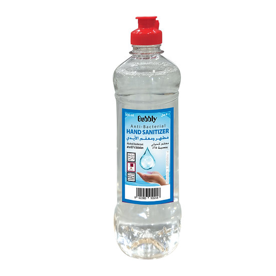 Bubbly Hand Sanitizer LIQUID 70% 500ml