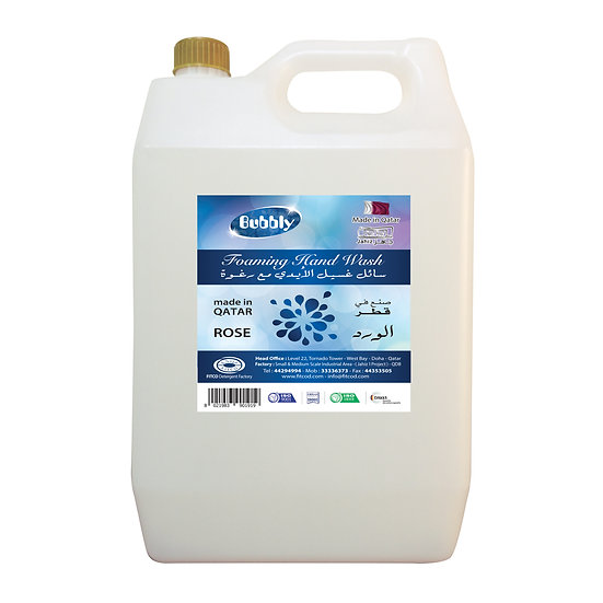 Bubbly Foaming hand Wash Rose 5L