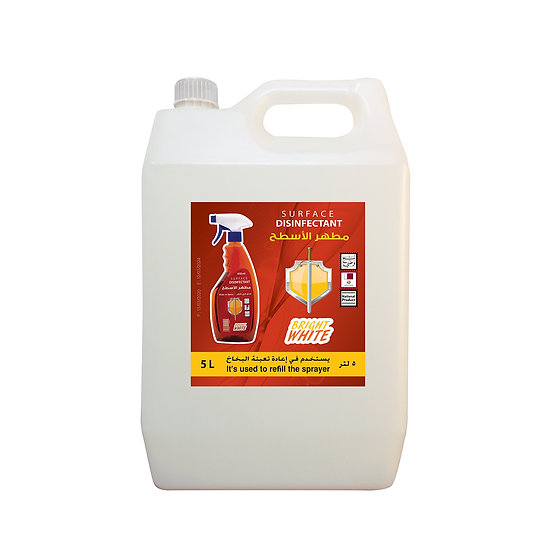 Bright white surface disinfectant use to refill sprayer 5L