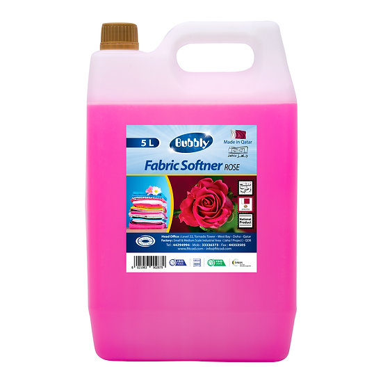 Bubbly Fabric Softner Rose 5L