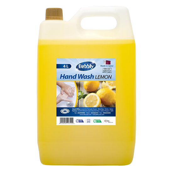 Bubbly HAND WASH  LEMONE 4L