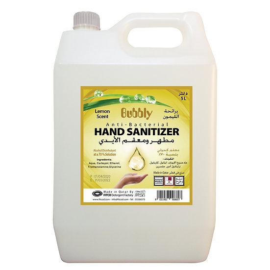 Bubbly Hand Sanitizer GEL Lemon 70% ALCOHOL 5L