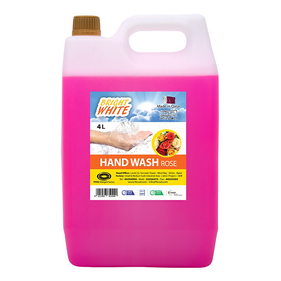 Brightwhite Hand Wash Rose 4L