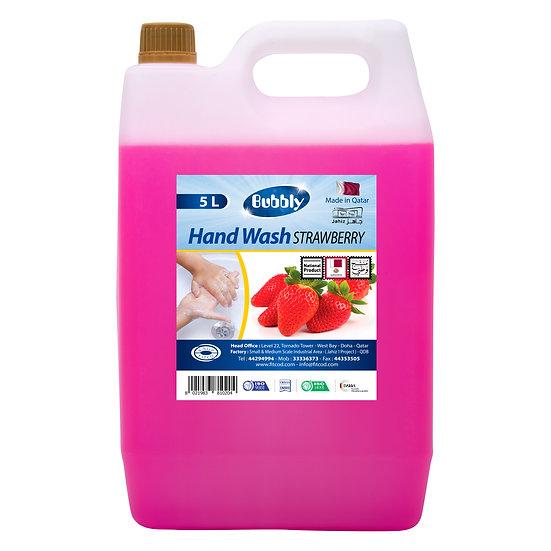 Bubbly Hand Wash Strawberry 5L