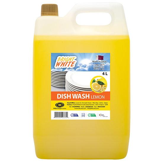 Brightwhite Dish Wash Lemon 4L