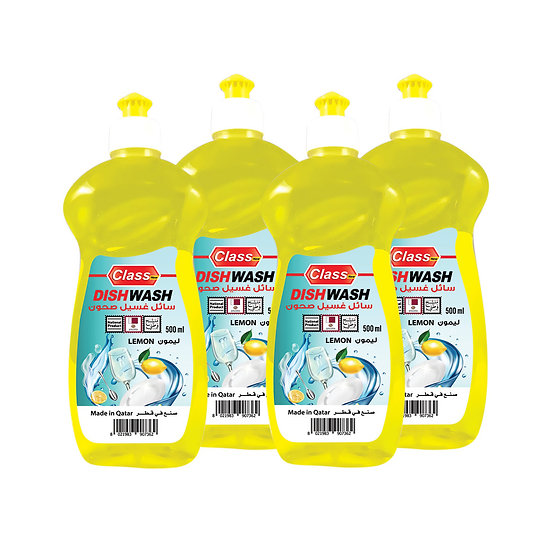 Dish Wash  - Lemon - 500 ml - 4 pieces