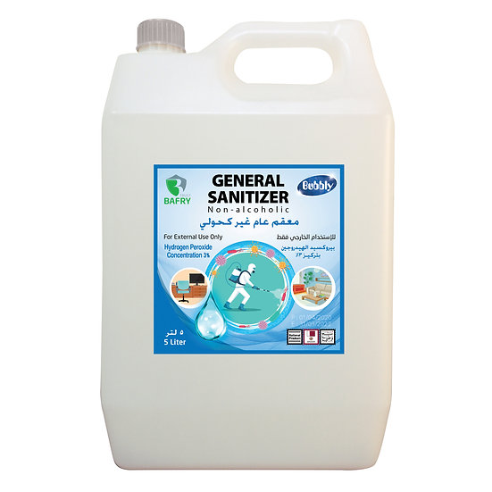 Bubbly General Sanitizer Non-alcoholic Concentration 3% 5L