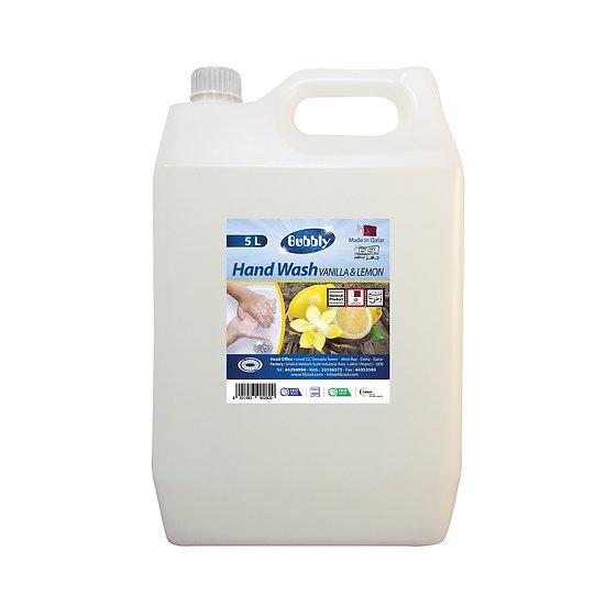 Bubbly Hand Wash Vanilla & Lemon 5L