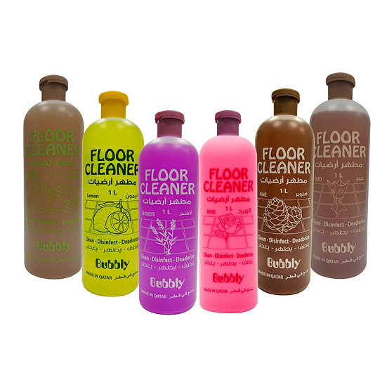 Bubbly - Floor Cleaner - Various Flavours - 1 L - 6 pieces