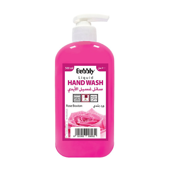 Bubbly Hand Wash rose bouton 500ml