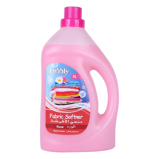 Bubbly Fabric Softner Rose 3L