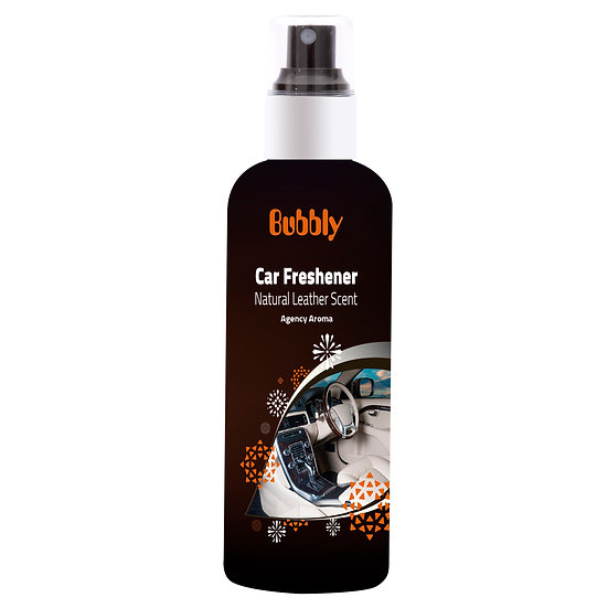 Bubbly Car Frefhener Natural Leather Scent Agency Aroma 180ml