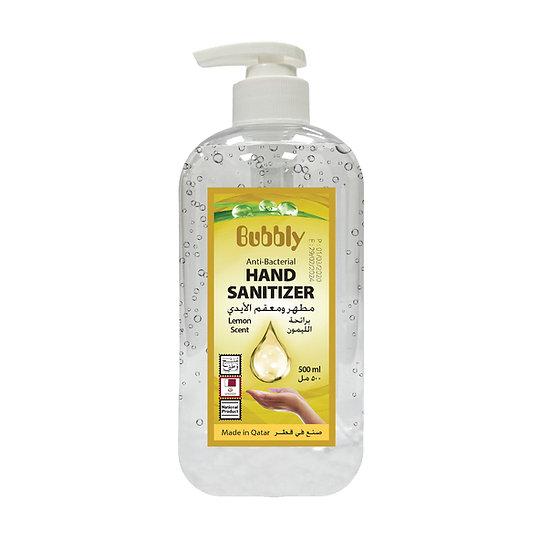 Bubbly Hand Sanitizer GEL Lemon 70% ALCOHOL 500ML