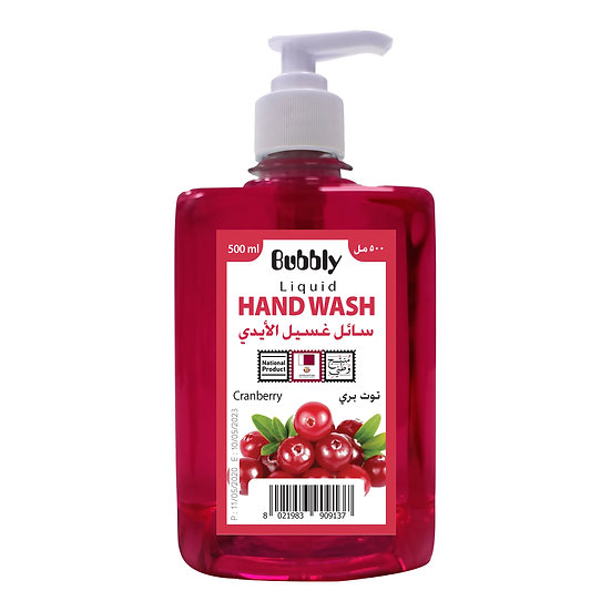Bubbly Hand Wash Cranberry 500ml