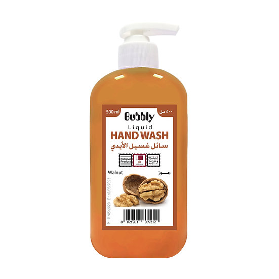 Bubbly Hand Wash Walnut 500ml
