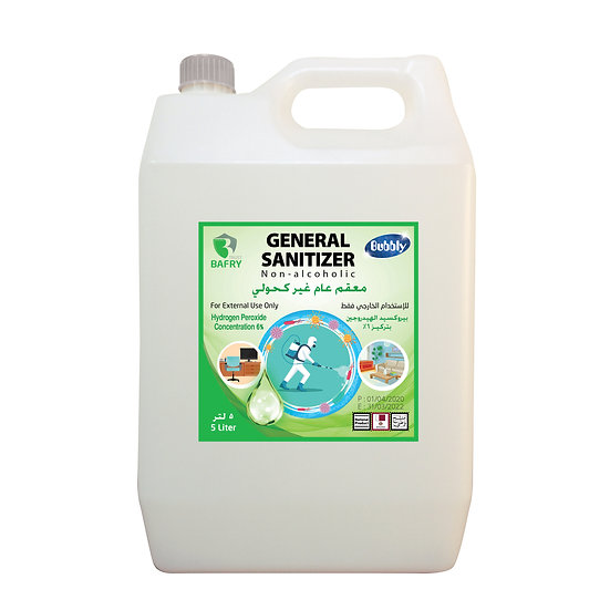 Bubbly General Sanitizer Non-alcoholic Concentration 6% 5L