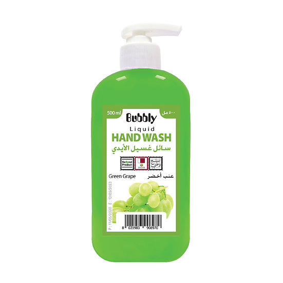 Bubbly Hand Wash Green Grape 500ml