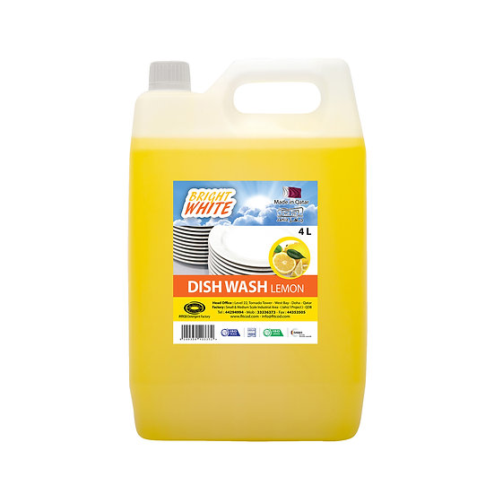Brightwhite Dish Wash Lemon 4L