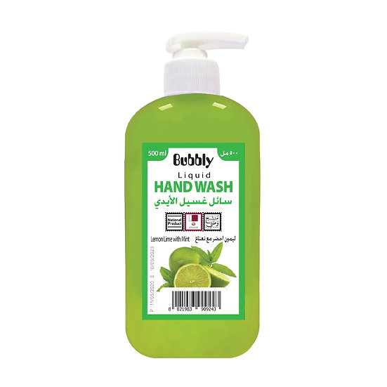 Bubbly Hand Wash Lemon Lime with Mint 500ml