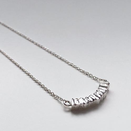Textured Crescent Necklace