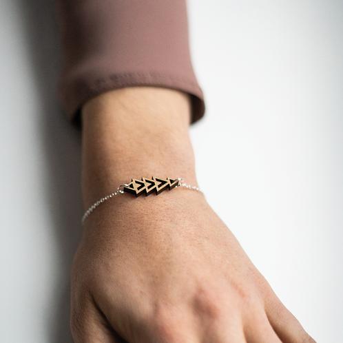 Micro Triangle Bracelet