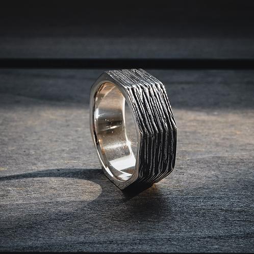 Furrow Band Ring
