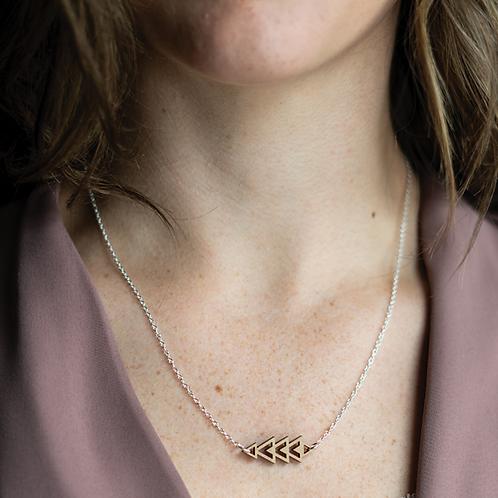 Micro Triangle Necklace