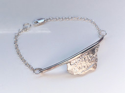 Custom Textured Half Cuff Bracelet