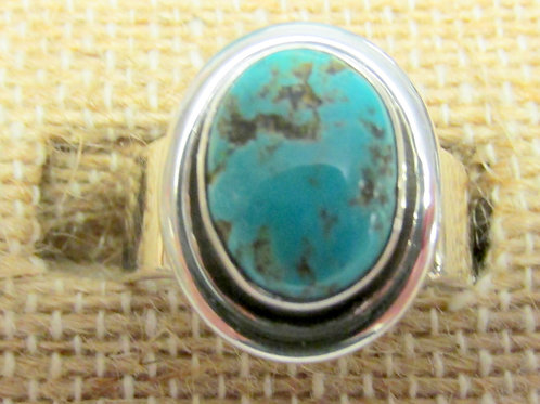 Bisbee Turquoise Ring Size 7 Oval Stone