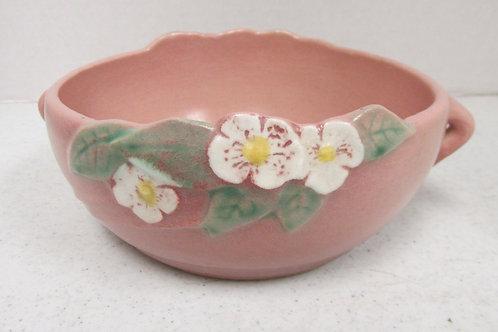 Vintage Roseville Pottery Mock Orange Handled Bowl