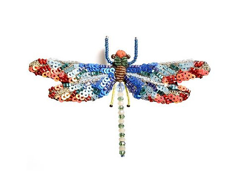 Trovelore Sunrise Dragonfly Embellished Pin New in Box Handcrafted