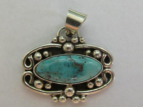 Unique Bisbee Turquoise Pendant by George Ramirez