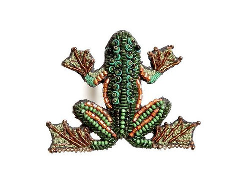 Trovelore Tree Frog Embellished Pin New in Box Handcrafted