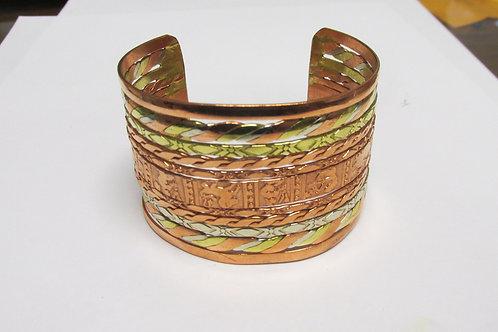 "Mixed Metal 1-7/8"" Wide Cuff Bracelet"