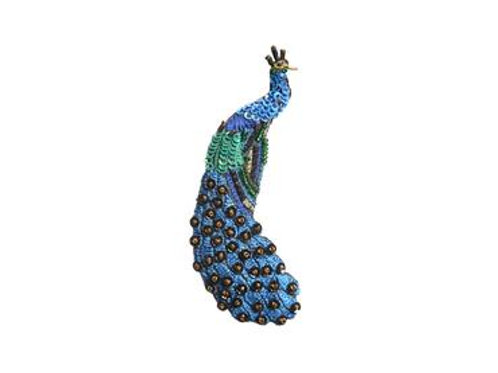 Trovelore Peacock Embellished Pin New in Box Handcr