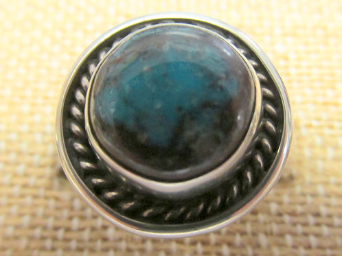 Smoky Bisbee Turquoise Ring Size 9.5