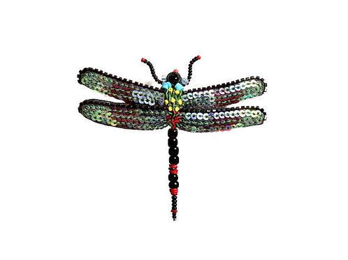 Trovelore Night Fairy Dragon Fly Embellished Pin New in Box Handcr