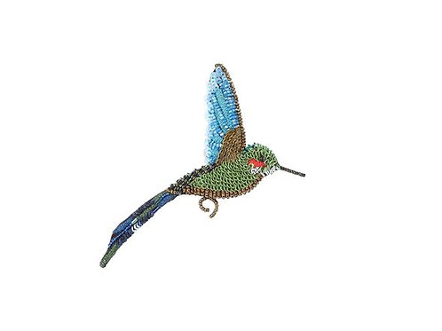 Trovelore Tropicl Hummingbird Embellished Pin New in Box Handcrafted