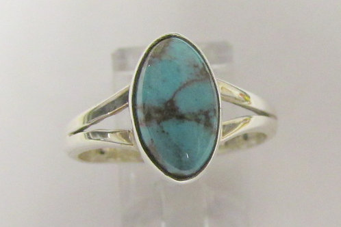 Sterling Silver Bisbee Turquoise Ring Size 8