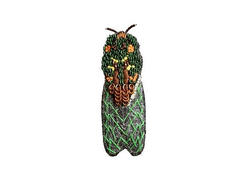 Trovelore Mossy Pilot Cicada Embellished Pin New in Box Handcr
