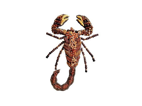 Trovelore Scorpion Embellished Pin New in Box Handcrafted
