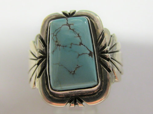 Bisbee Turquoise Ring Size 11 by George Ramirez